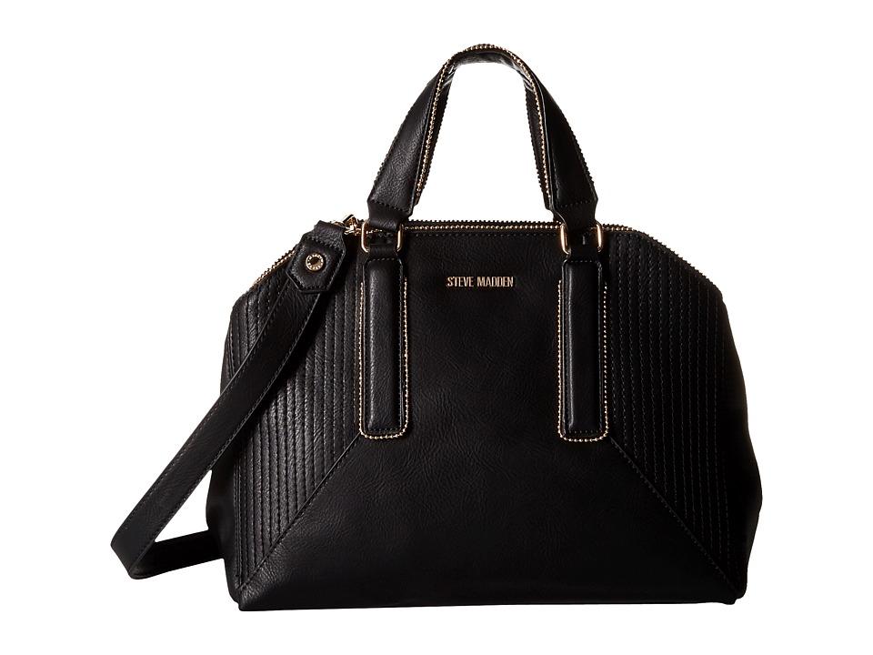 Steve Madden - Bpronto Dome Satchel (Black) Satchel Handbags