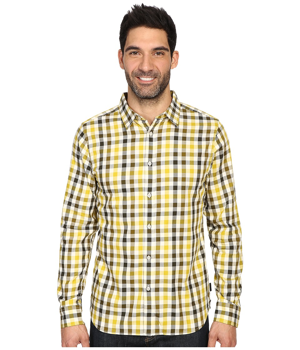 The North Face - Long Sleeve Hayden Pass Shirt (Antique Moss Green Plaid (Prior Season)) Men's Clothing