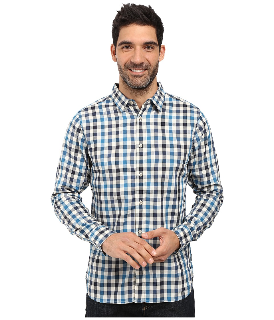 The North Face - Long Sleeve Hayden Pass Shirt (Banff Blue Plaid) Men's Clothing
