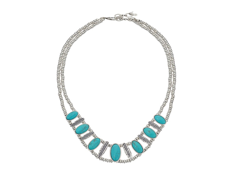Lucky Brand - Turquoise Collar Necklace (Medium Grey) Necklace