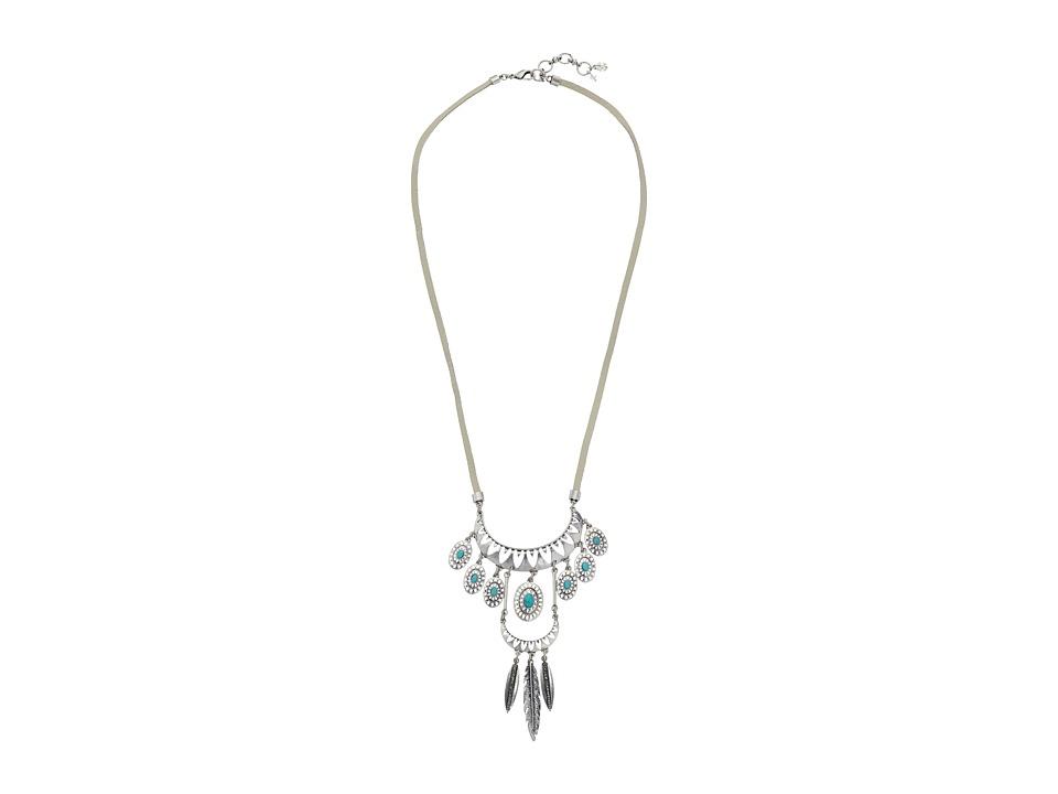 Lucky Brand - Tribal Pendant Necklace (Medium Grey) Necklace
