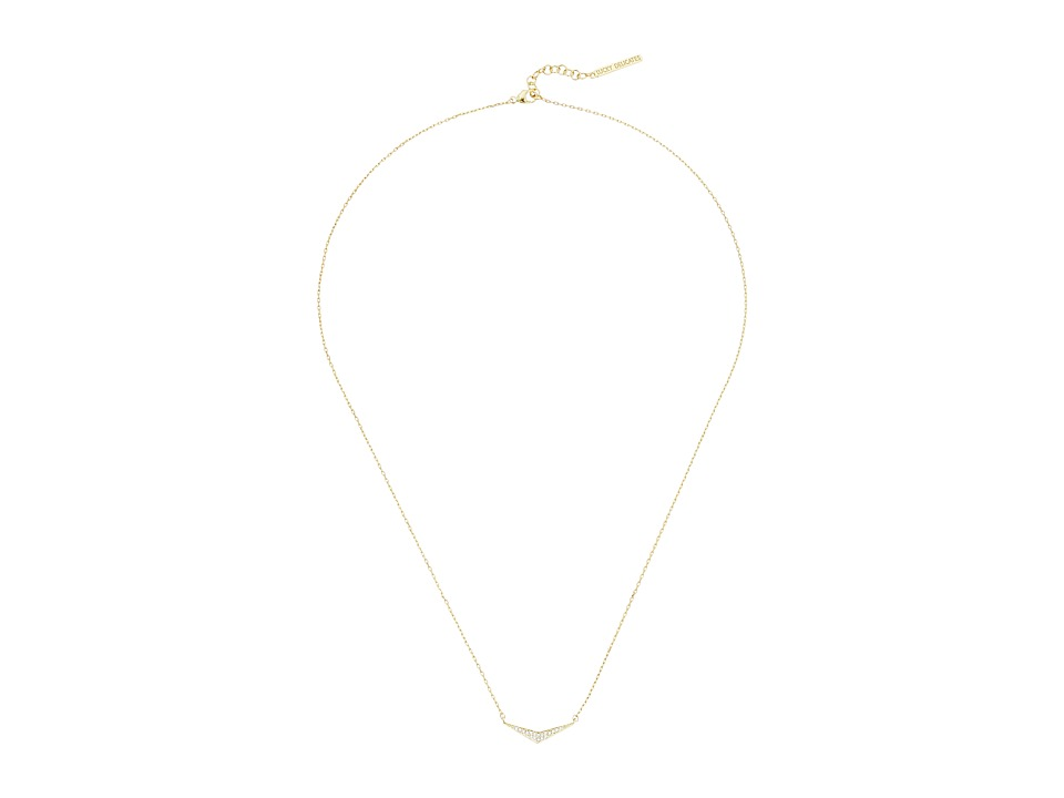 Lucky Brand - Triangle Pave Necklace (Medium Dark Gold) Necklace