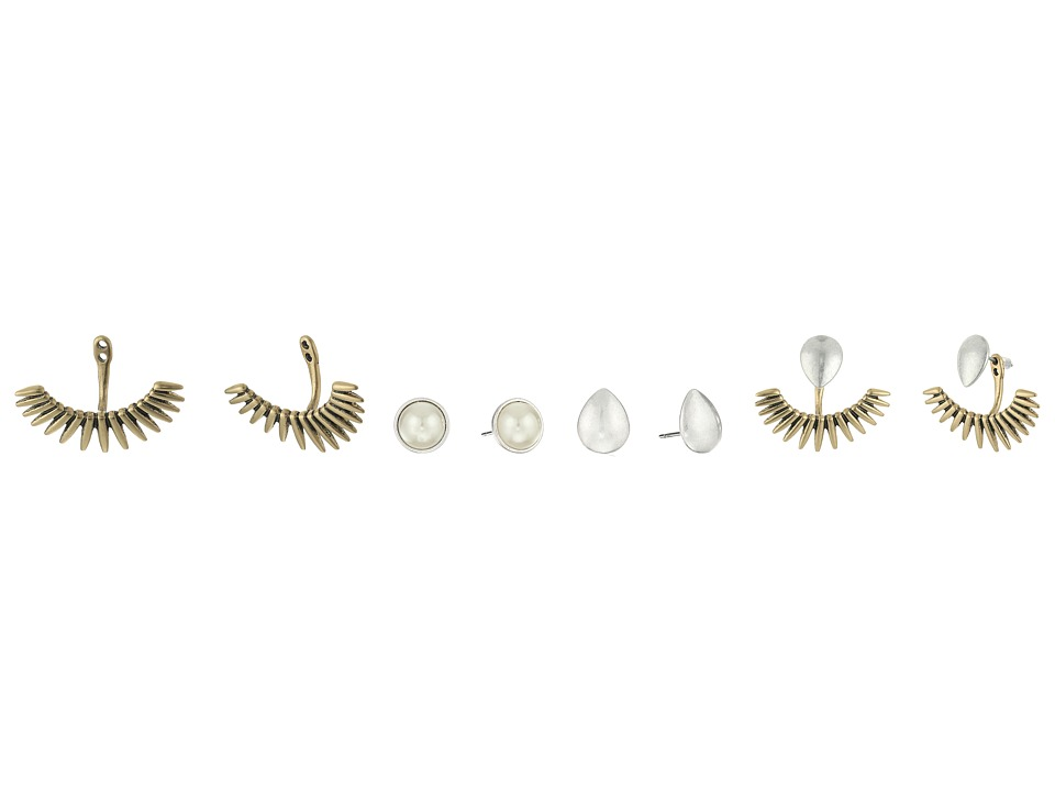 Lucky Brand - Pearl Ear Jacket Set Earrings (Multi) Earring