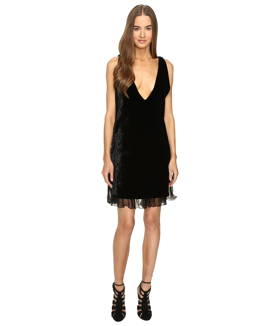 DSQUARED2 - Open Sides V-Neck Dress (Black) Women's Dress