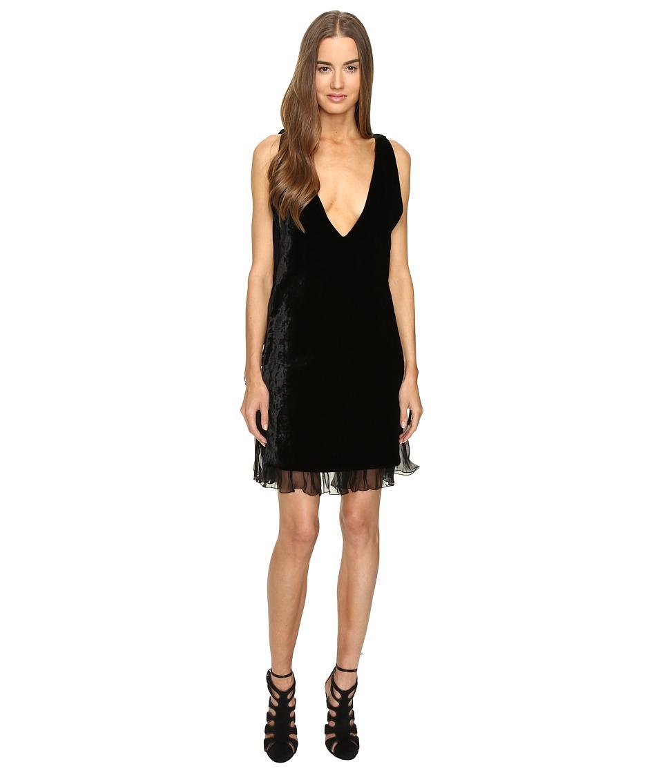 DSQUARED2 Open Sides V-Neck Dress (Black) Women