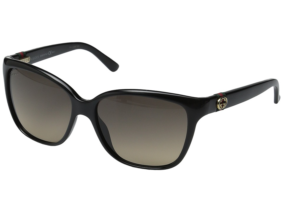 Gucci - GG 3645/S (Shiny Black/Brown Gradient) Fashion Sunglasses