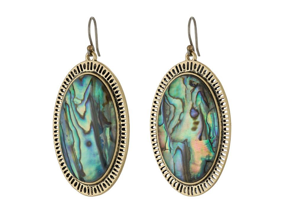 Lucky Brand - Major Abalone Earrings (Medium Dark Gold) Earring