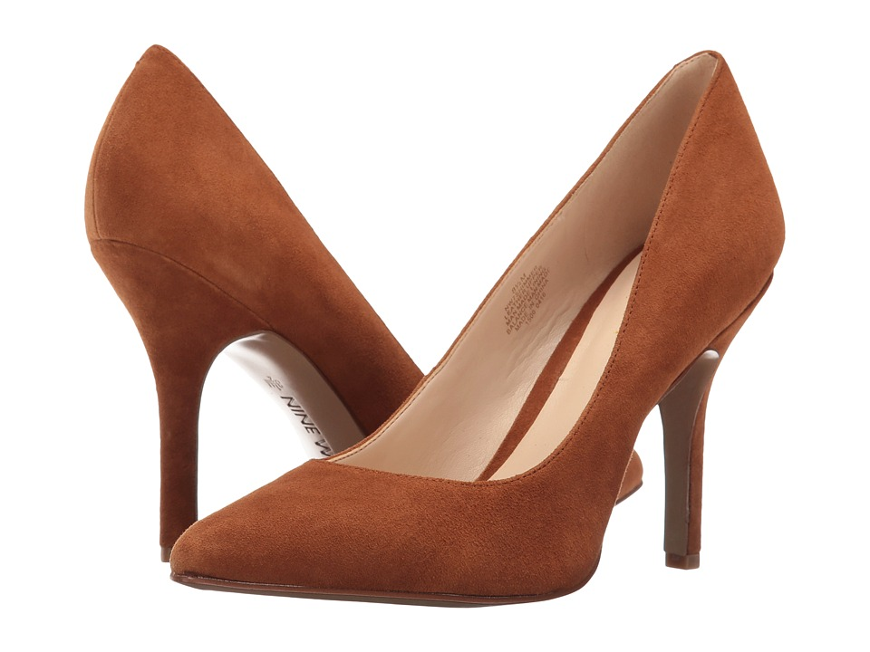 Nine West - Shimmer (Cognac Suede) Women's Shoes
