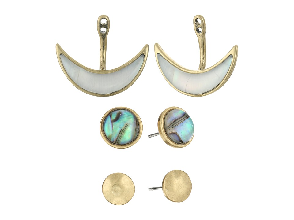 Lucky Brand - Ear Jacket Set Earrings (Medium Dark Gold) Earring