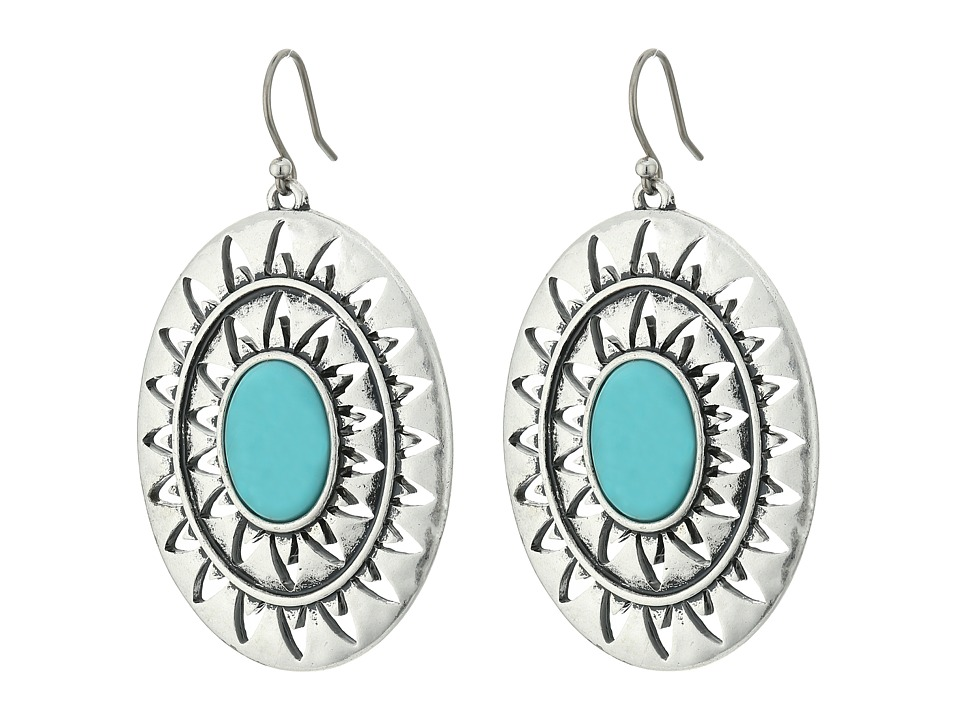 Lucky Brand - Turquoise Earrings (Medium Grey) Earring
