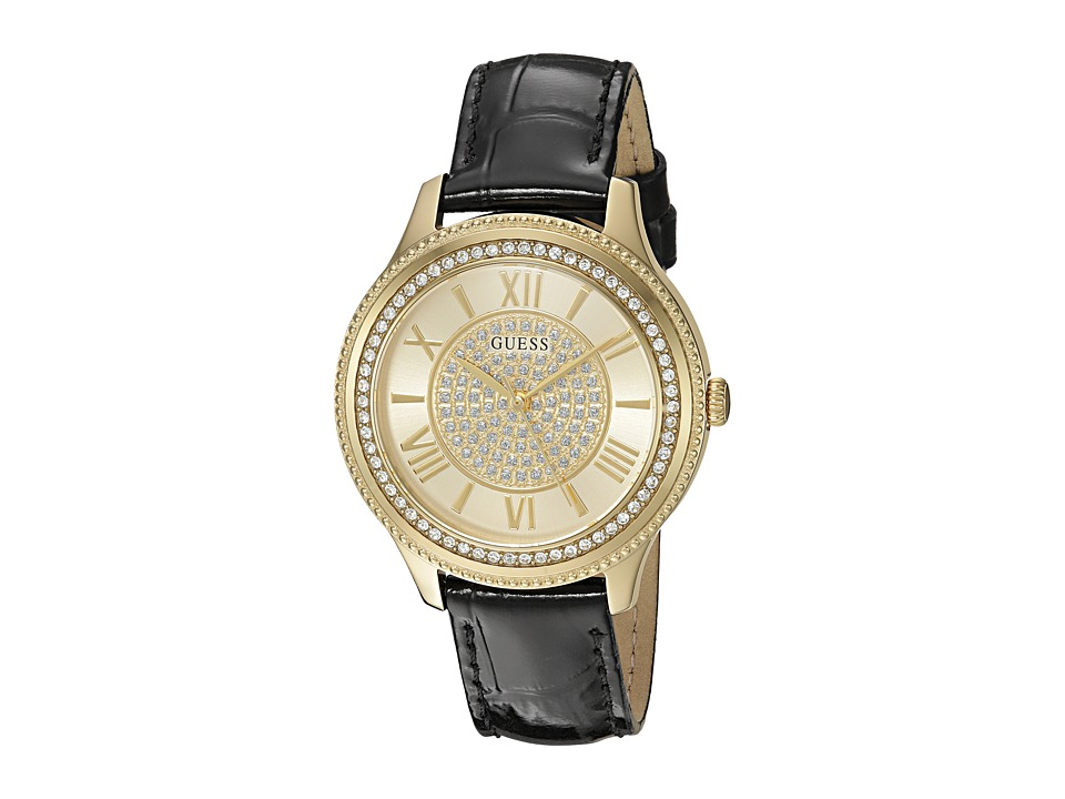 GUESS - U0840L1 (Gold/Black Croco) Watches