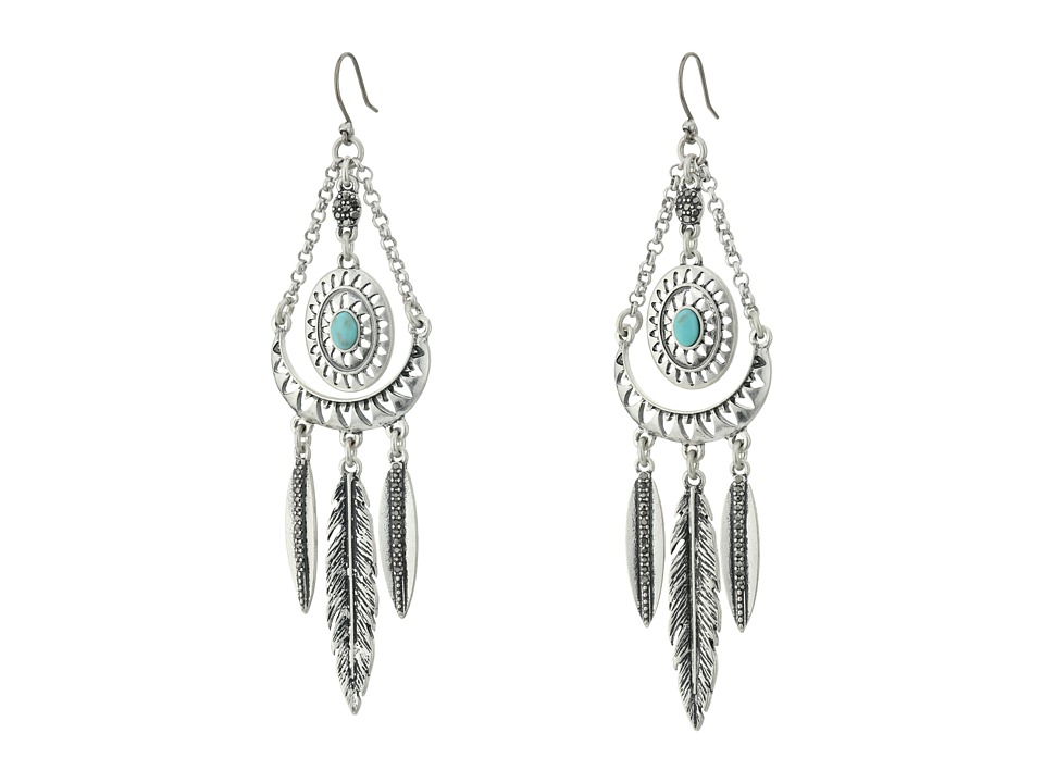 Lucky Brand - Heritage Earrings (Medium Grey) Earring