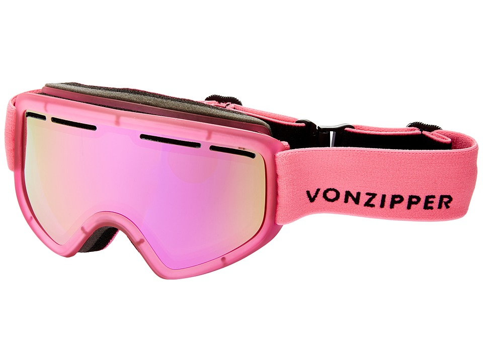 VonZipper - Trike (Mono Pink Satin/Smoke Pink Chrome) Snow Goggles