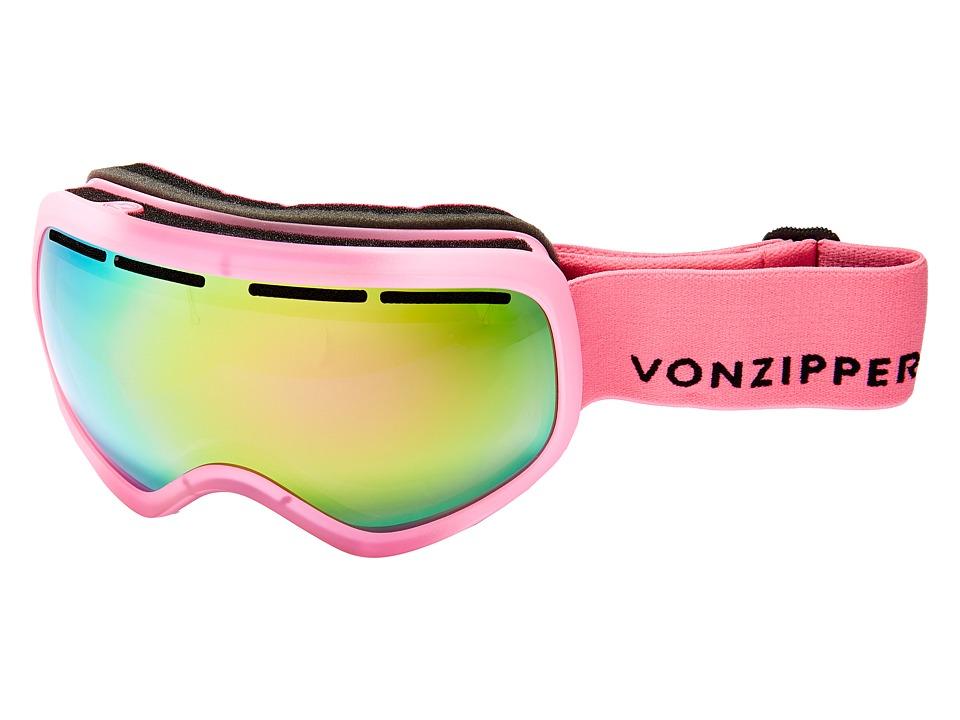 VonZipper - Skylab Goggle (Mono Pink Satin/Smoke Pink Chrome) Snow Goggles
