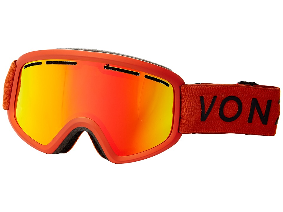 VonZipper - Trike (Burnt Orange Satin/Fire Chrome) Snow Goggles