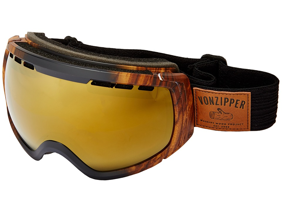 VonZipper - Feenom - N.L.S. (Massive Wood Satin/Copper Chrome) Snow Goggles