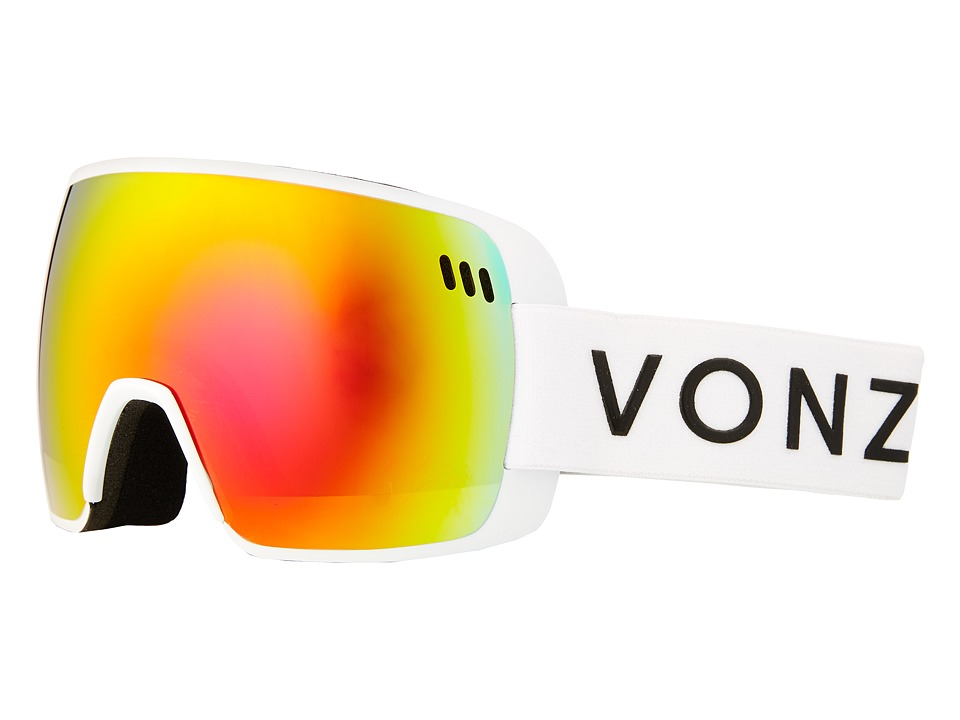 VonZipper - Alt Goggle (White/Fire Chrome) Fashion Sunglasses
