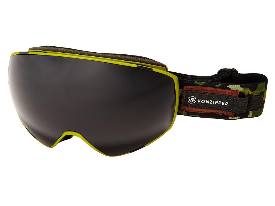 VonZipper - Jetpack (Olive Camo Satin/Blackout) Goggles