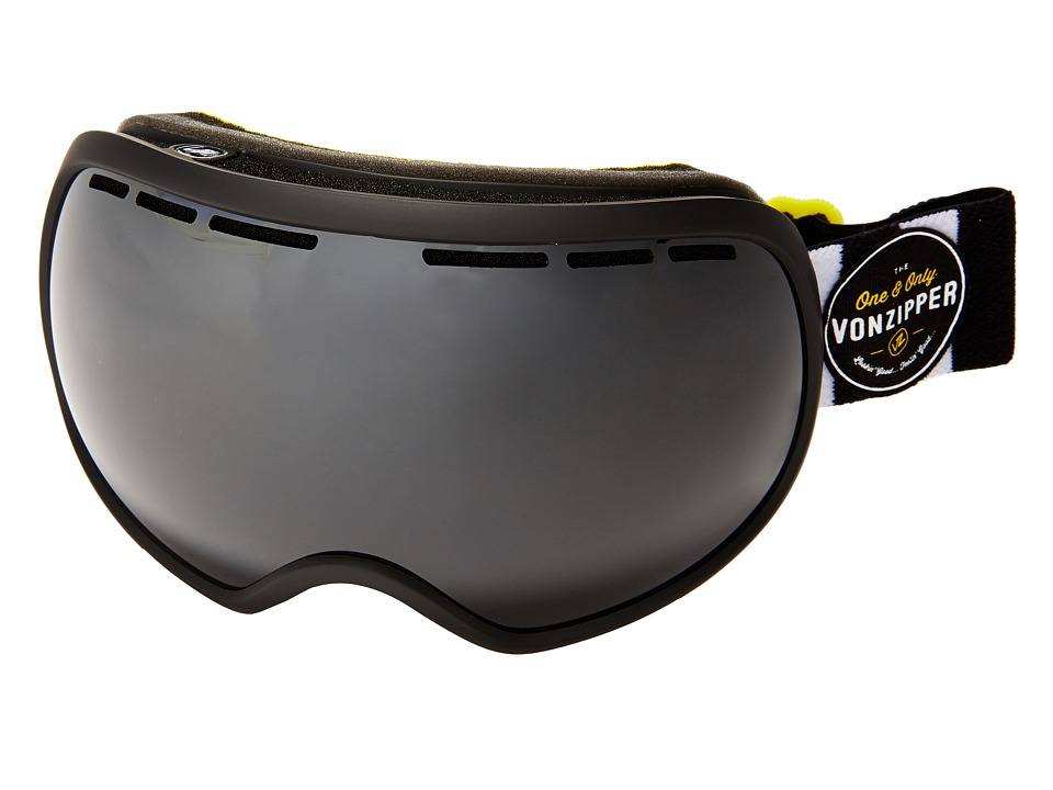 VonZipper - Fishbowl Goggle (Black Satin/Black Chrome) Snow Goggles