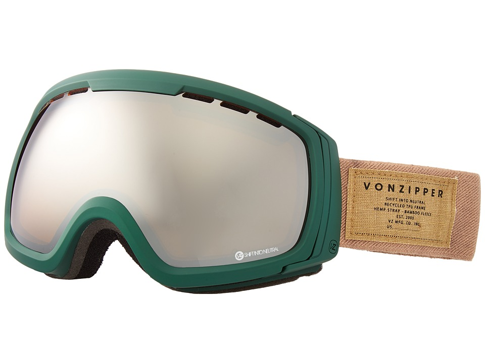 VonZipper - Feenom - N.L.S. (Hunter Green Satin/Persimmon Chrome) Snow Goggles