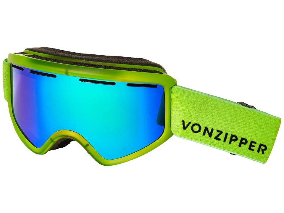 VonZipper - Beefy (Mono Lime Satin/Quasar Chrome) Snow Goggles