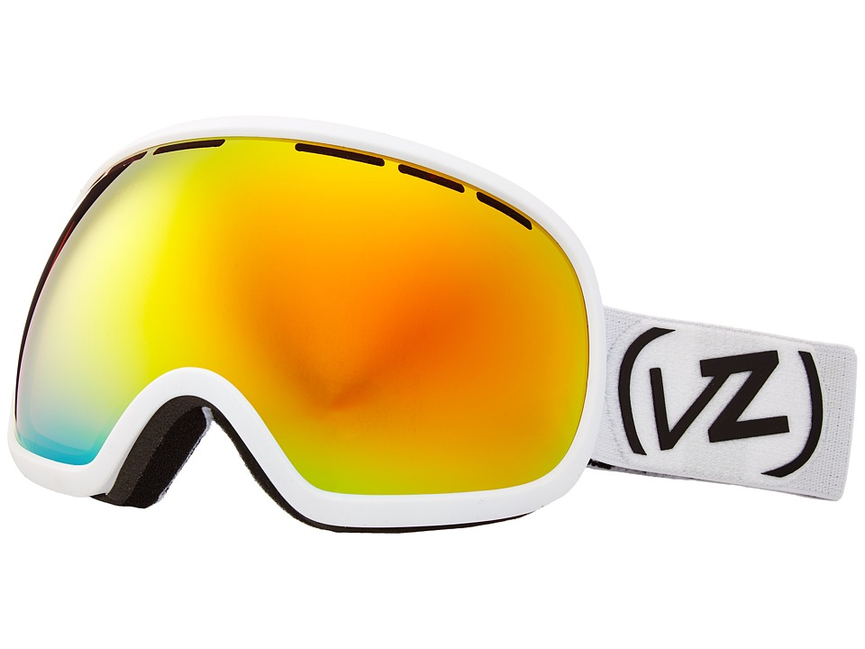 VonZipper - Fishbowl Goggle (White Satin/Fire Chrome) Snow Goggles