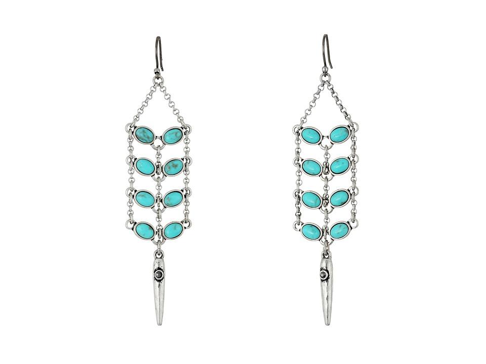 Lucky Brand - Turquoise Earrings (Medium Grey) Earring