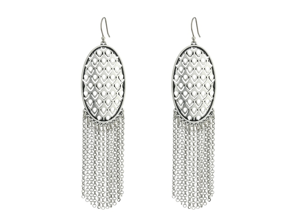 Lucky Brand - Chandelier Earrings (Medium Grey) Earring