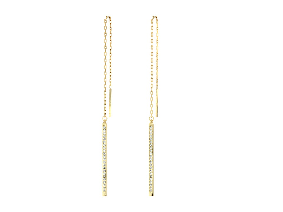 Lucky Brand - Delicate Chain Drop Earrings (Medium Dark Gold) Earring