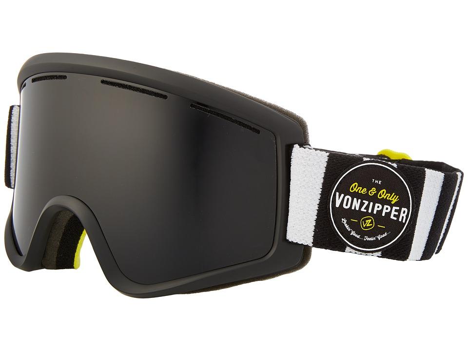 VonZipper - Cleaver (Black Satin/Blackout 3) Snow Goggles