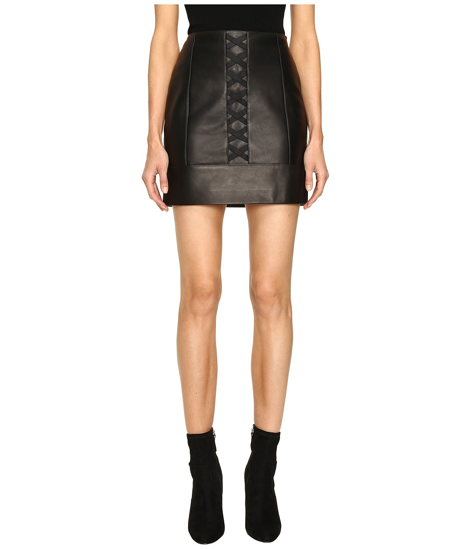 Neil Barrett - Laced Nappa Plonge Pencil Skirt (Black) Women's Skirt