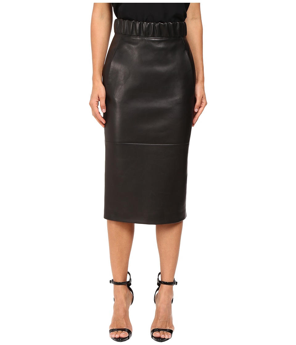 Neil Barrett - Leather Pencil Skirt (Black) Women's Skirt
