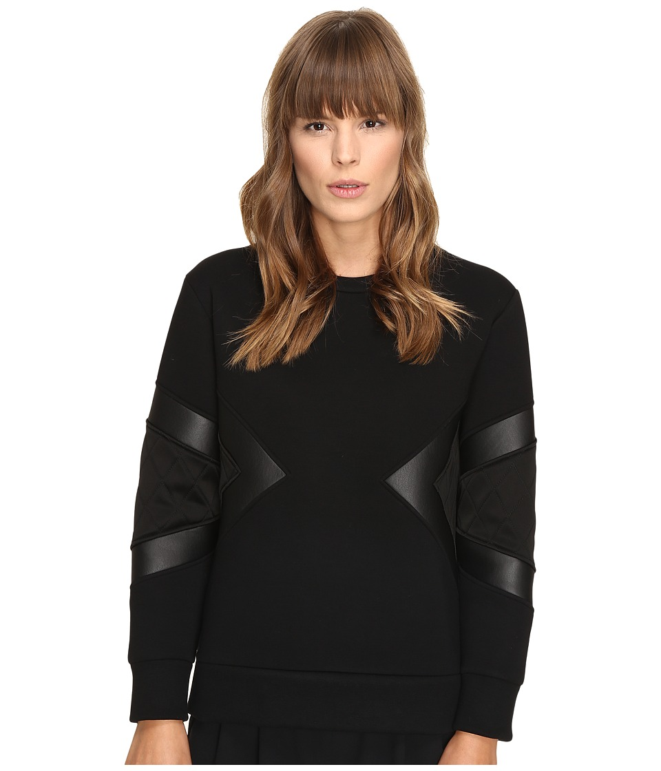 Neil Barrett - Modernist Slim Regular Sweatshirt (Black) Women's Sweatshirt