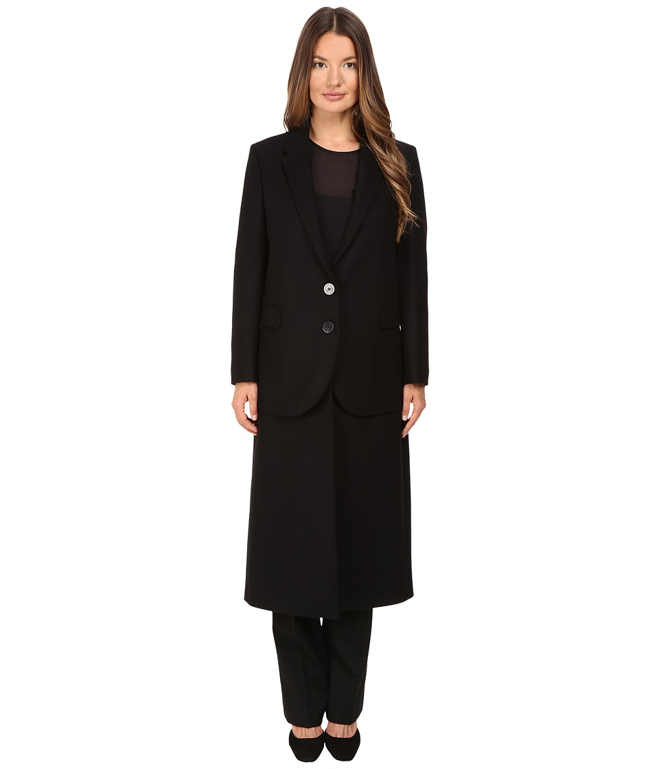 Neil Barrett - Hybrid Long Double Layer Wool Coat (Black) Women's Coat