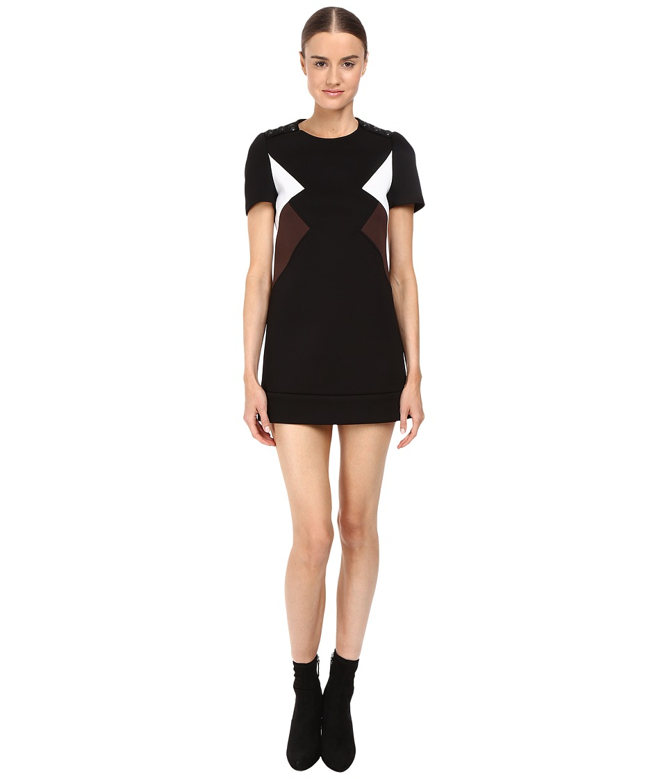 Neil Barrett - Modernist Fitted Sweatshirt Dress (Black) Women's Dress