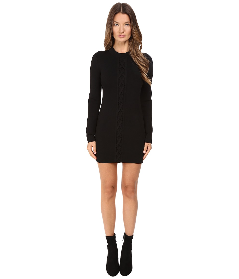 Neil Barrett - Laced Slim Knit Dress (Black) Women's Dress