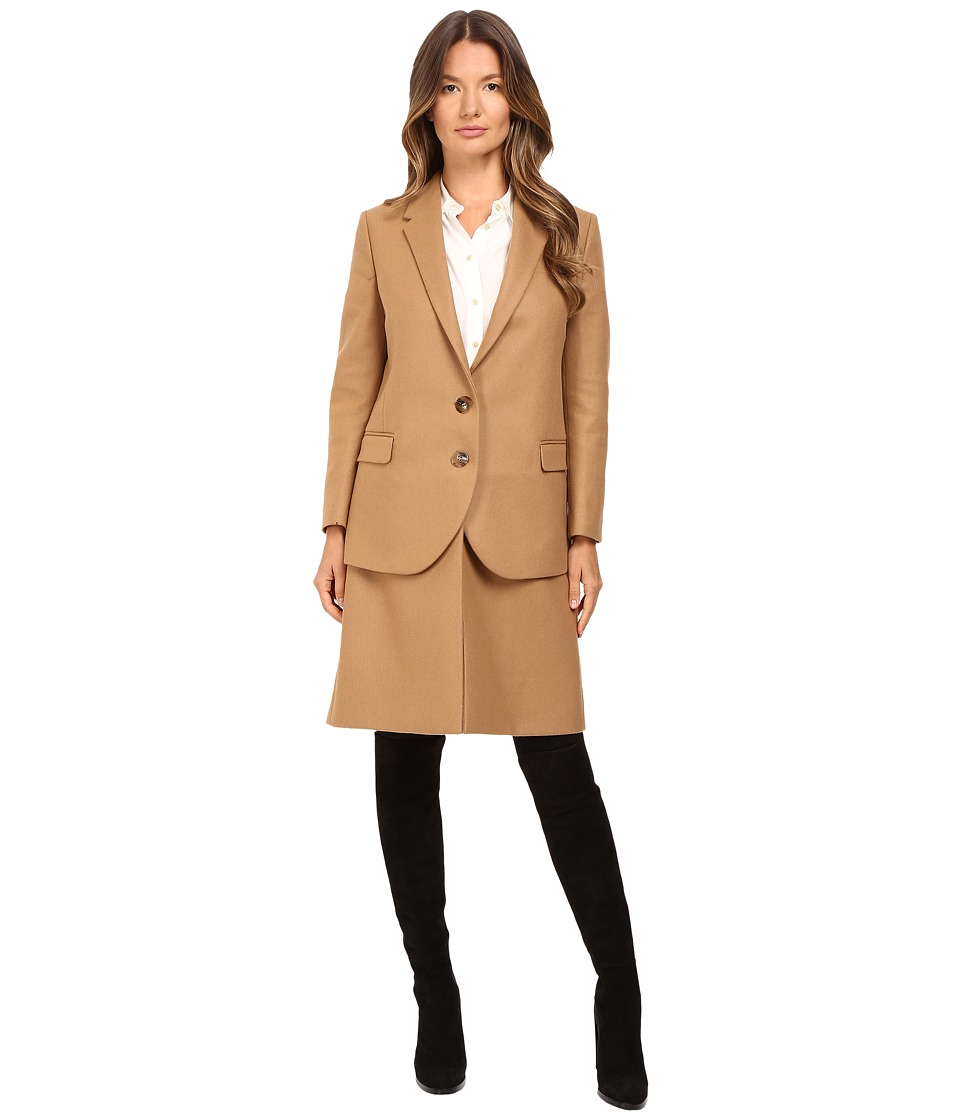 Neil Barrett - Hybrid Short Double Layered Jacket (Camel) Women's Coat