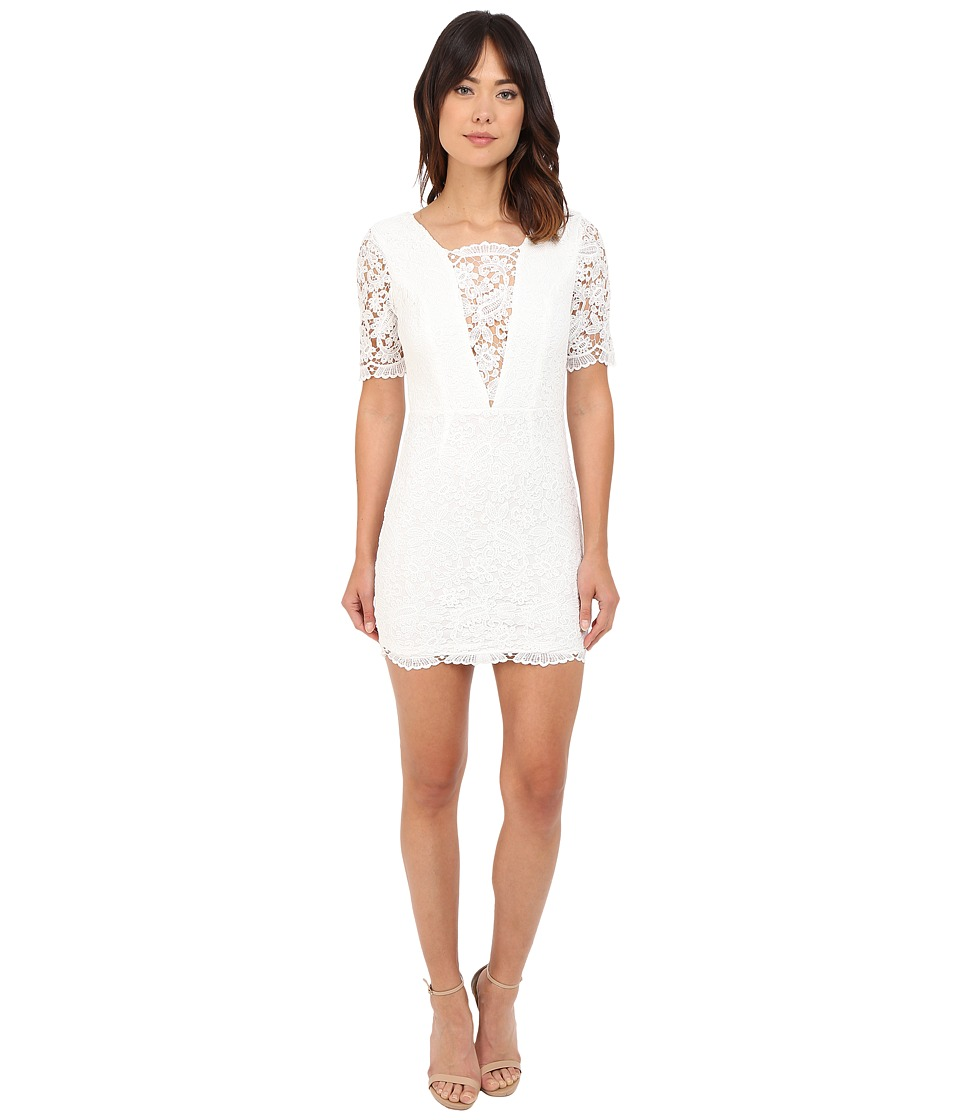 Brigitte Bailey Jennifer Crochet Lace Detail Mini Dress