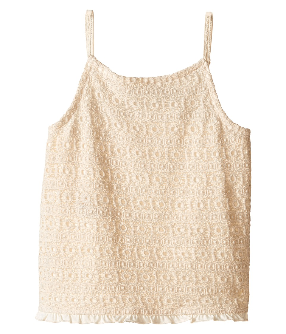 Lucky Brand Kids - Abby Crochet Tank Top (Big Kids) (Antique White) Girl's Sleeveless