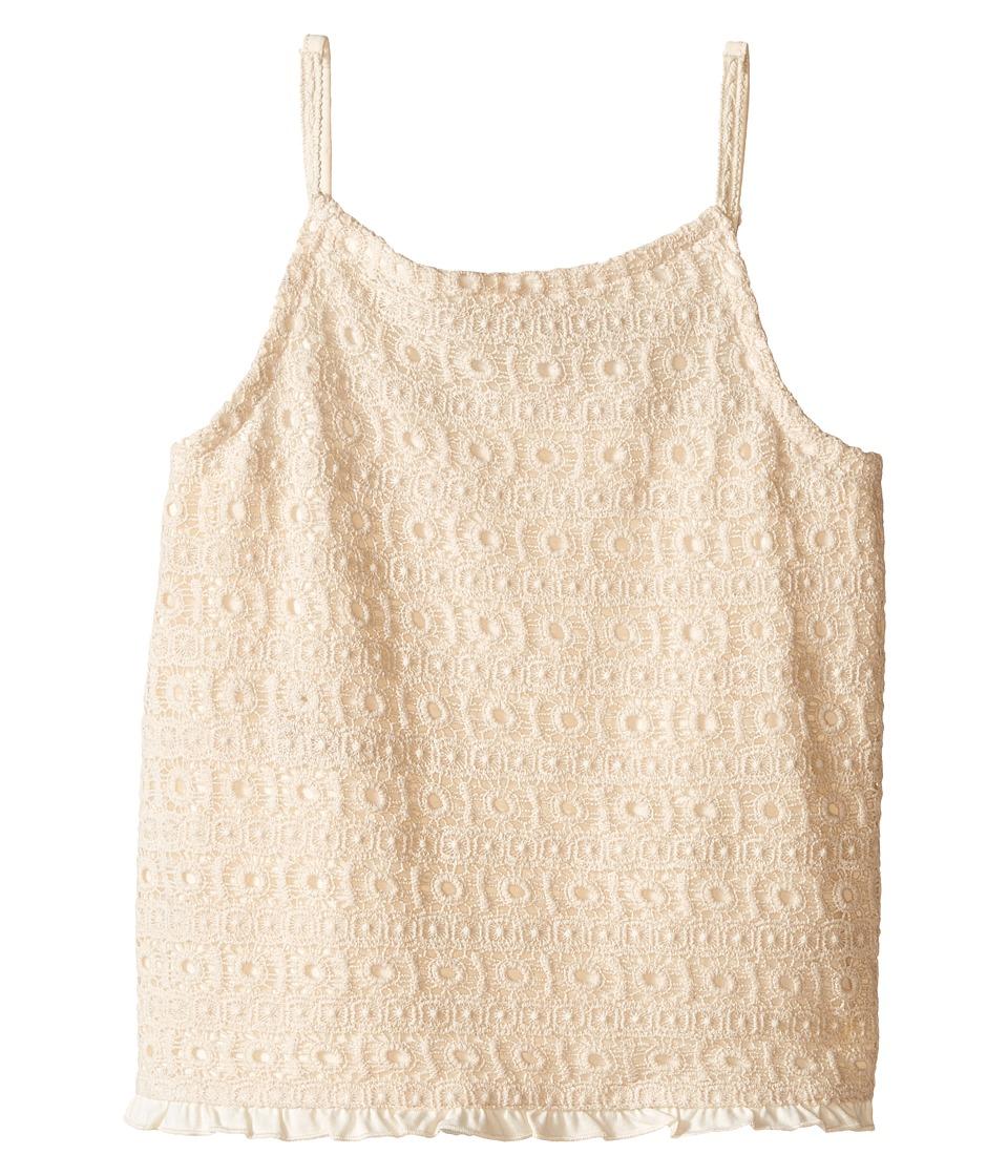Lucky Brand Kids - Abby Crochet Tank Top (Big Kids) (Antique White) Girl's Sleeveless