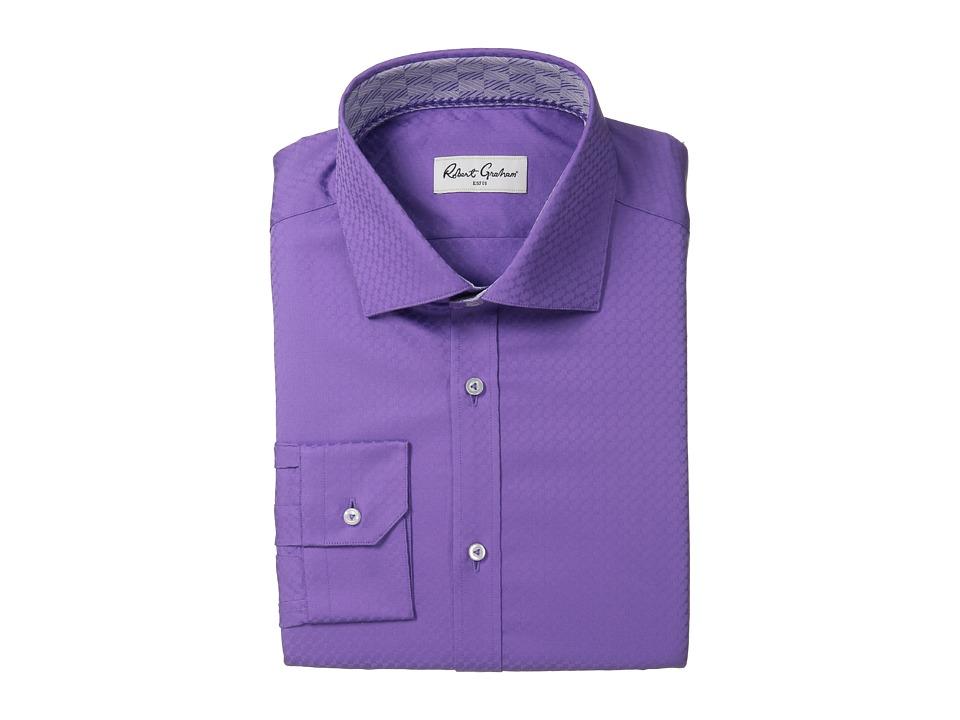Robert Graham - Rocky Dress Shirt (Purple) Men's Long Sleeve Button Up