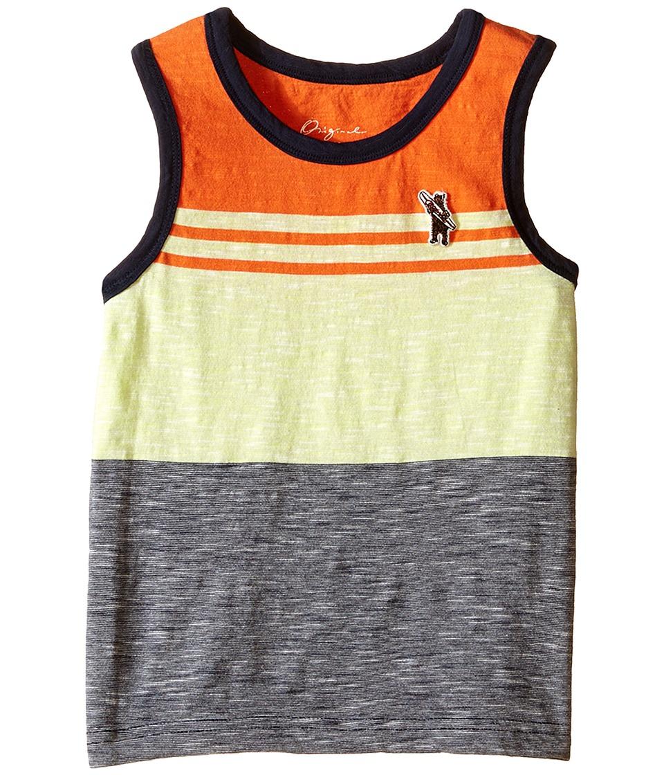 Lucky Brand Kids - Stripe Tank Top (Toddler) (Neon Green) Boy's Sleeveless