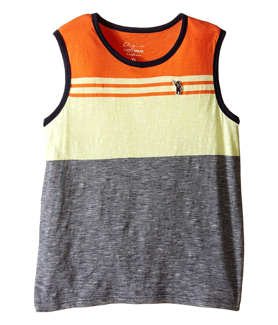 Lucky Brand Kids - Stripe Tank Top (Big Kids) (Neon Green) Boy's Sleeveless