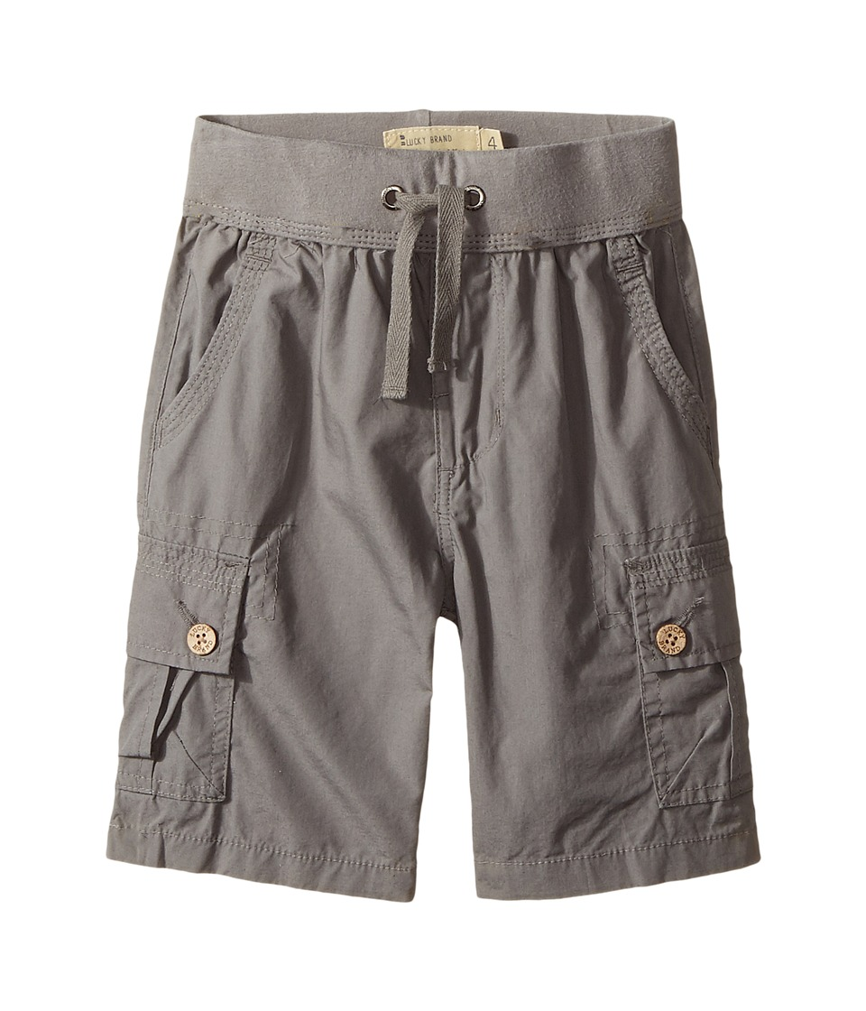 Lucky Brand Kids - Pull-On Shorts (Little Kids/Big Kids) (Charcoal) Boy's Shorts