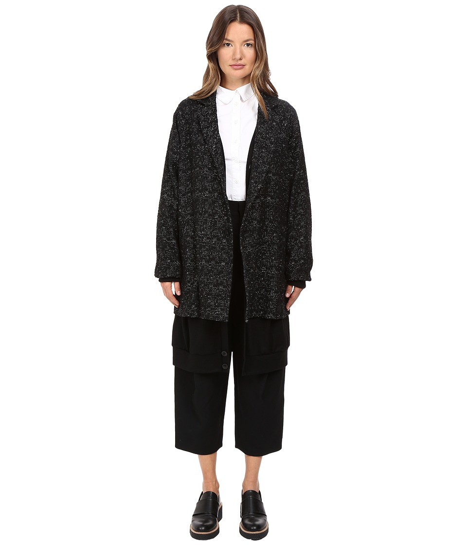 Y's by Yohji Yamamoto - Layered Big Jacket (Black) Women's Coat