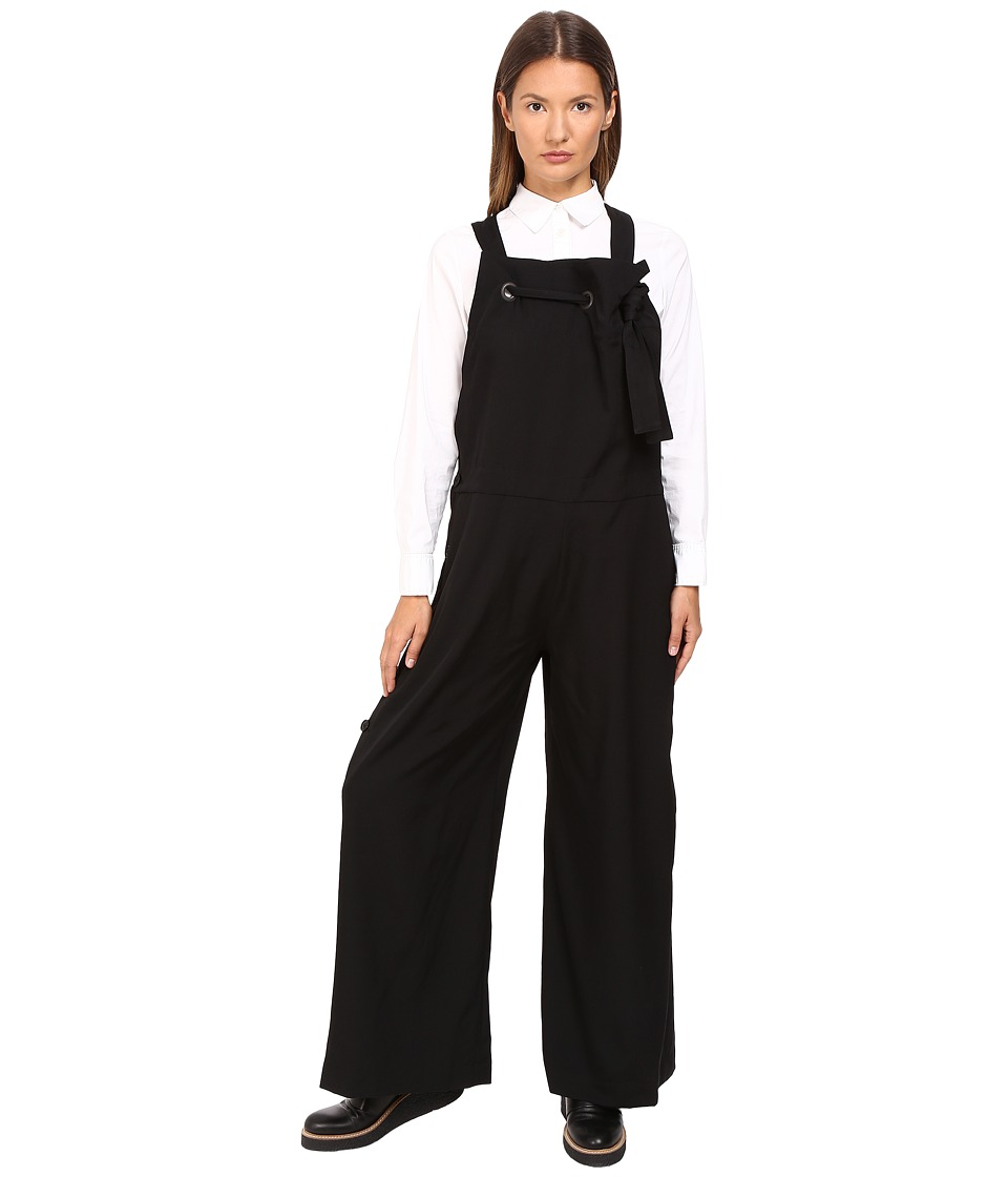 Y's by Yohji Yamamoto - Salopette Overalls (Black) Women's Overalls One Piece