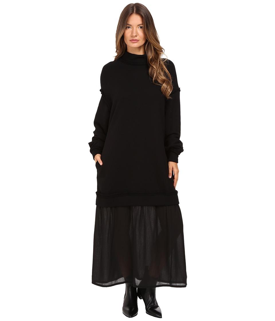 Y's by Yohji Yamamoto - Trainer Dress (Black) Women's Dress