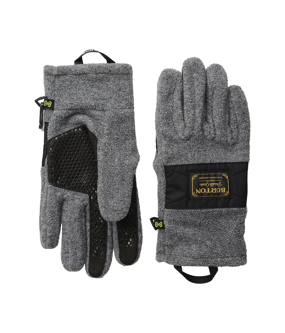 Burton - Ember Fleece Glove (Faded Heather) Extreme Cold Weather Gloves