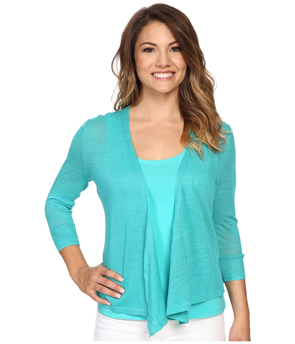 NIC+ZOE - Petite 4 Way Cardy (Aquarium) Women's Sweater