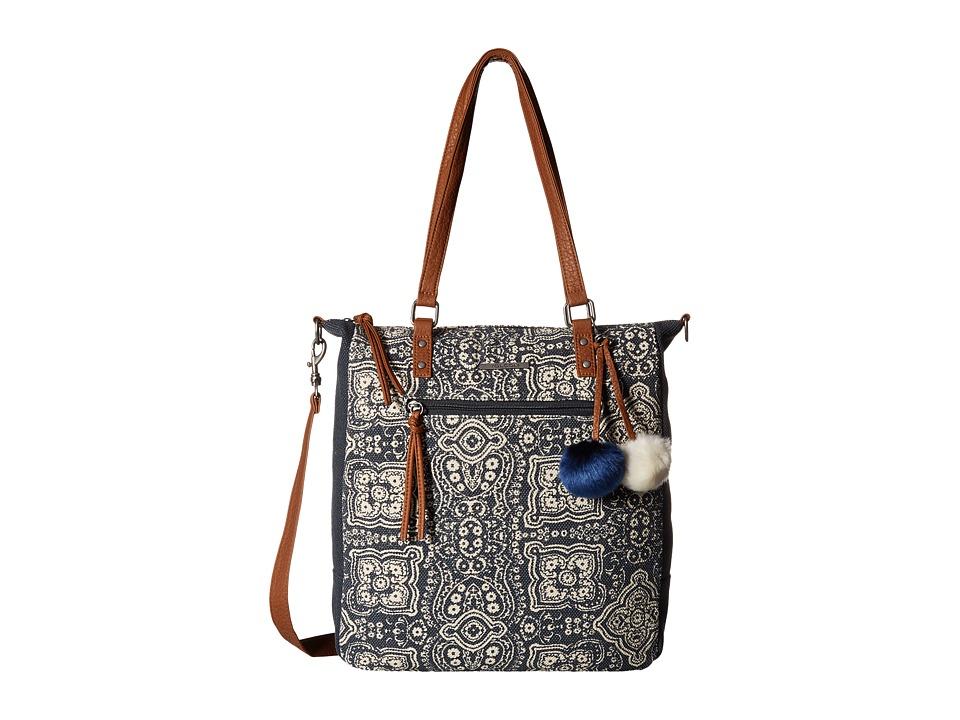 Volcom - Furever Tote (Dark Navy) Tote Handbags